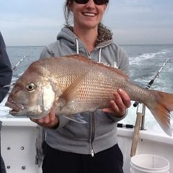 Girls getting in the action on The Reel Thing Charters