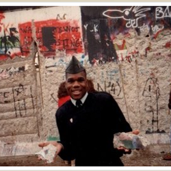 Dr. Cummings at The Berlin Wall.