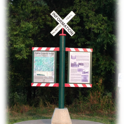 Palmetto Trail Information Kiosk, located behind Wilson's Grocery Store