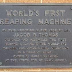 Jacob R. Thomas Reaping Machine