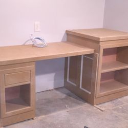 Desk completed prior to priming