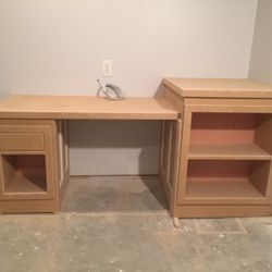 completed desk prior to priming