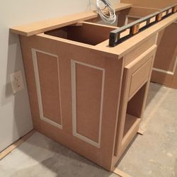 Drawer & shelf pedistal