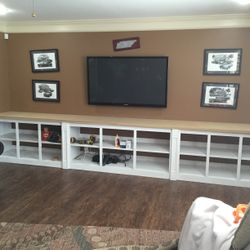 Installation of base cabinets