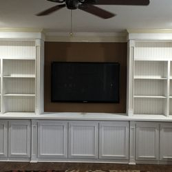 Completed cabinet/shelving unit