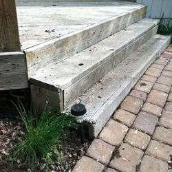 Deck step to paver detail