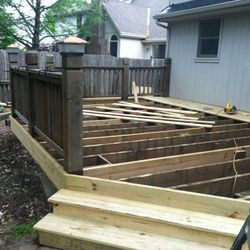 Deck joist layout detail