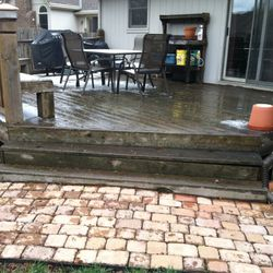 Deck steps prior to work