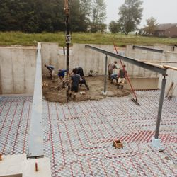 Pouring the Concrete