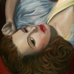 ''D'amour'' - oilon canvas 60 x 75 CM $150
