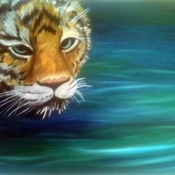 ''Tiger'' Oil on canvas - SOLD