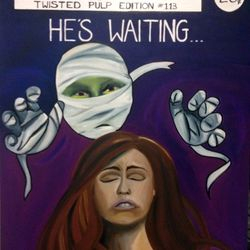 ''He's Waiting'' - oil on canvas, $80 AUD plus shipping