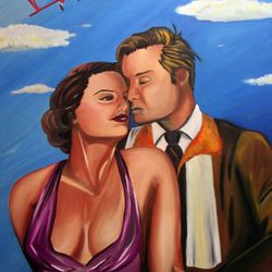 ''Come Fly With Me'' oil on canvas,100 x 75cm $150 AUD plus shipping