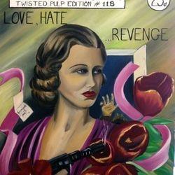 ''Love, Hate, Revenge'' oil on canvas 60 x 75cm - $150 AUD plus shipping