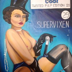 ''Supervixen'' - oil on canvas 60 x 75cm $150 AUD plus shipping