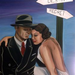 ''Destiny to Regret'' oil on canvas , 100 x 75cm $150 AUD plus shipping