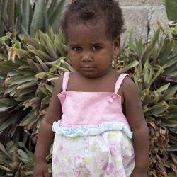 Hannah's favorite little friend in Haiti