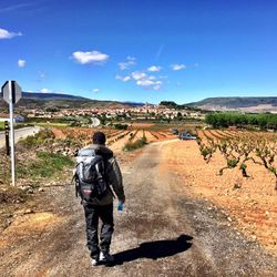 Camino de Santiago (French Route) between Logrono and Najera