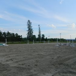 Sand ring with jumps and cavalletis