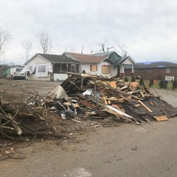 Storm damage in Nashville following an EF3 tornado that hit in Spring 2020.