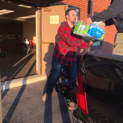 Supplies donated for community outreach by GoodWorks partner Convoy of Hope. Offloading with our partner church, Today's Victory in Goodlettsville, TN.