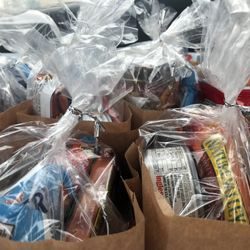 Care packages prepared by GoodWorks Volunteers for residents of low income housing in Goodlettsville, TN.