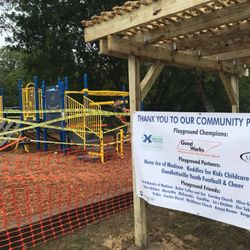 GoodWorks worked with Goodlettsville Parks and Rec to rebuild a playground.