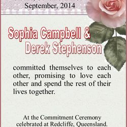 Commitment of Vows Certificate