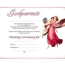 Godparents Certificate