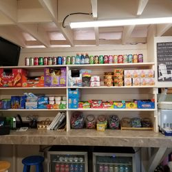 Fully stocked Snack Bar