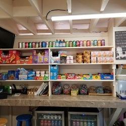 Fully stocked Snack Bar