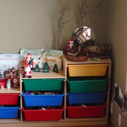 Christmas loose parts and items of interest