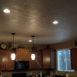 Recessed lighting and pendents