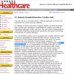 Internet:  Dr. Dash a team member of S L Raheja's Cardiac Unit.