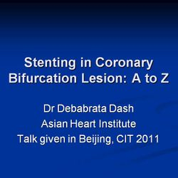 Presentation at CIT (Chinese Interventional Therapist), Beijing, 2011.
