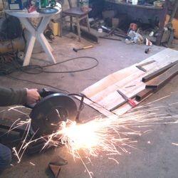 Making a belt grinder