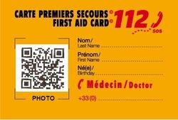 carte premiers secours 112