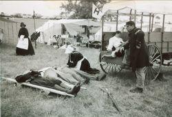 Tired stretcher bearer