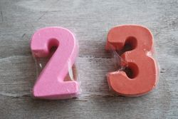 BIRTHDAY NUMBER SOAP FAVOR