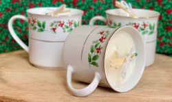 CHRISTMAS SCENT TEA CUP MASSAGE CANDLES