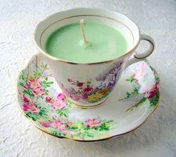 CUCUMBER MELON TEA CUP MASSAGE CANDLES