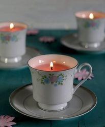 PORCELAIN TEA CUP MASSAGE CANDLES