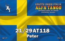 21/29AT118 QSL - designed by myself
