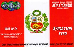 8/13 AT 105 Tito - Peru