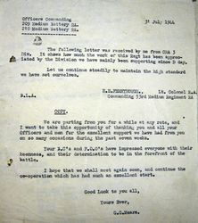 Letter from G.G.Mears