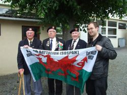 Posing with Veterans