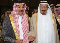 With crown Prince