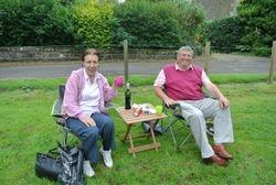 Enjoying a picnic