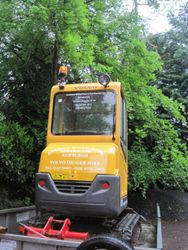 Andrew Williamson's mini digger saves the day