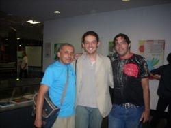 Lecy, Vinicius e Yendis na Biblioteca Estadual